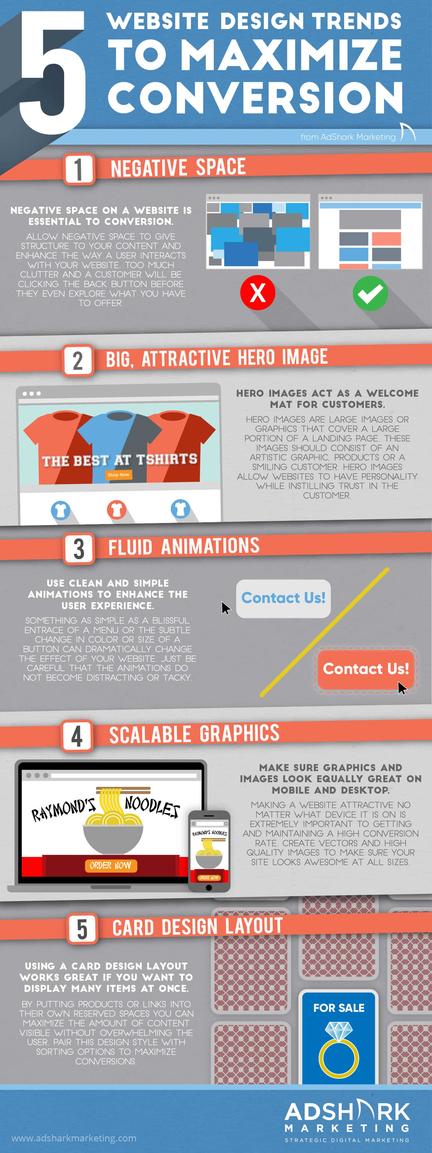 5 Website Design Trends to Maximize Conversion Infographic