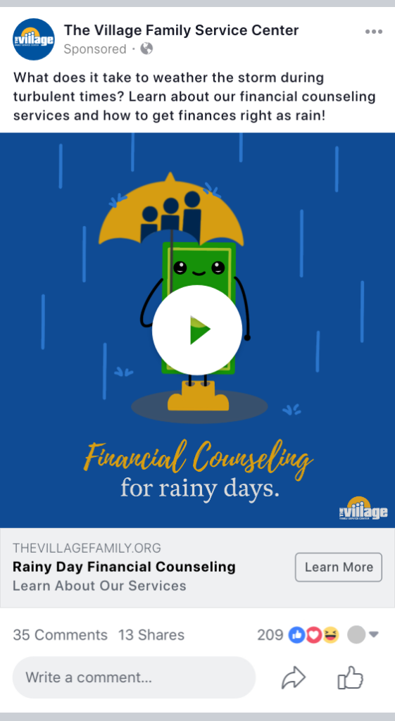 rainy day animated ad