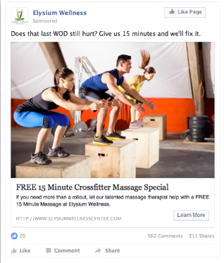 free offer ad - chiropractor