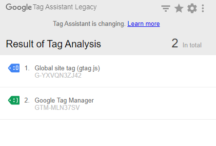 google analytics 4 tag assistant