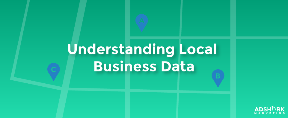 "A green graphic with the text, ""Understanding Local Business Data."""
