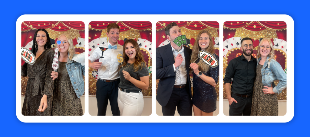 collage of images from AdShark Casino Night.